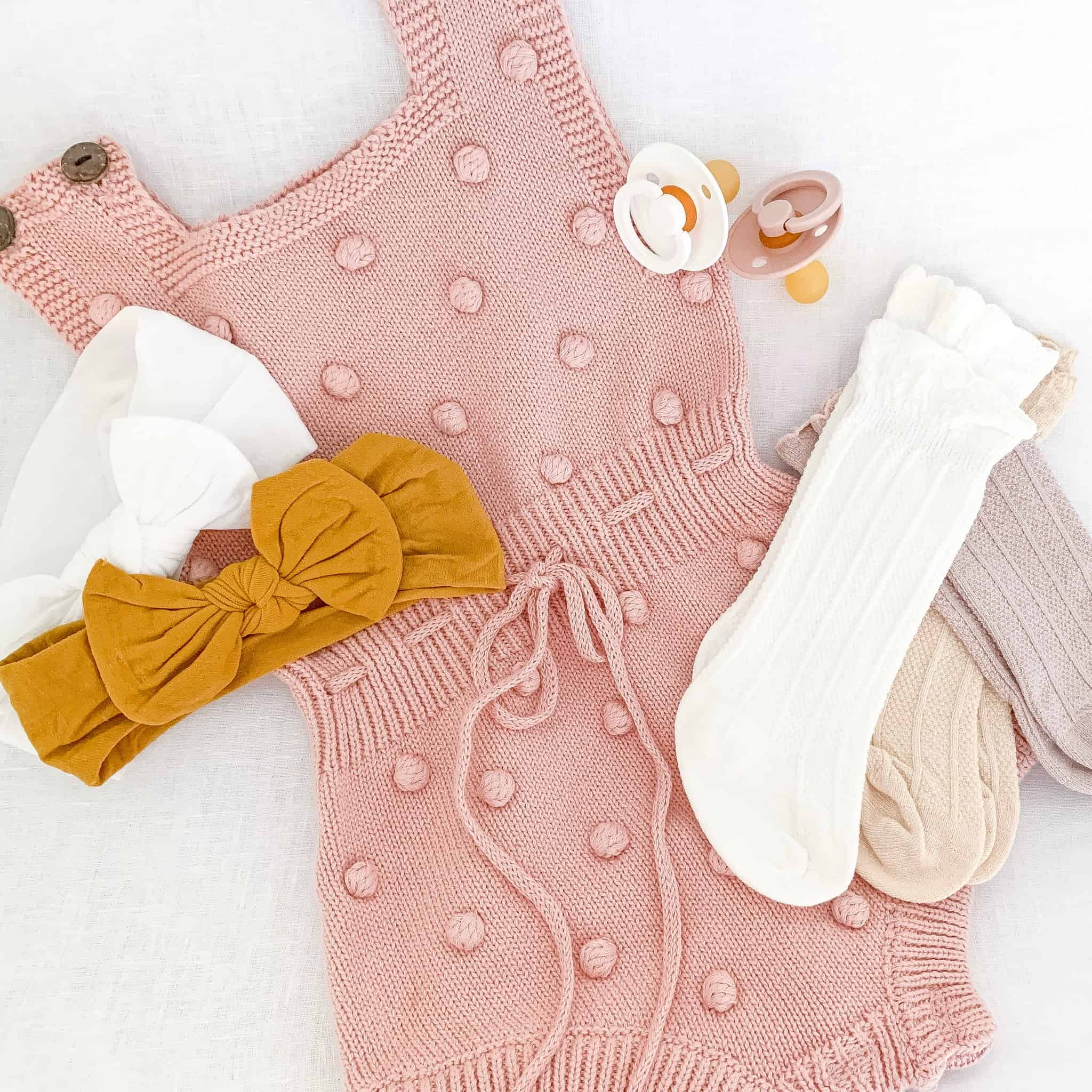 flat lay of baby girl amazon fashion