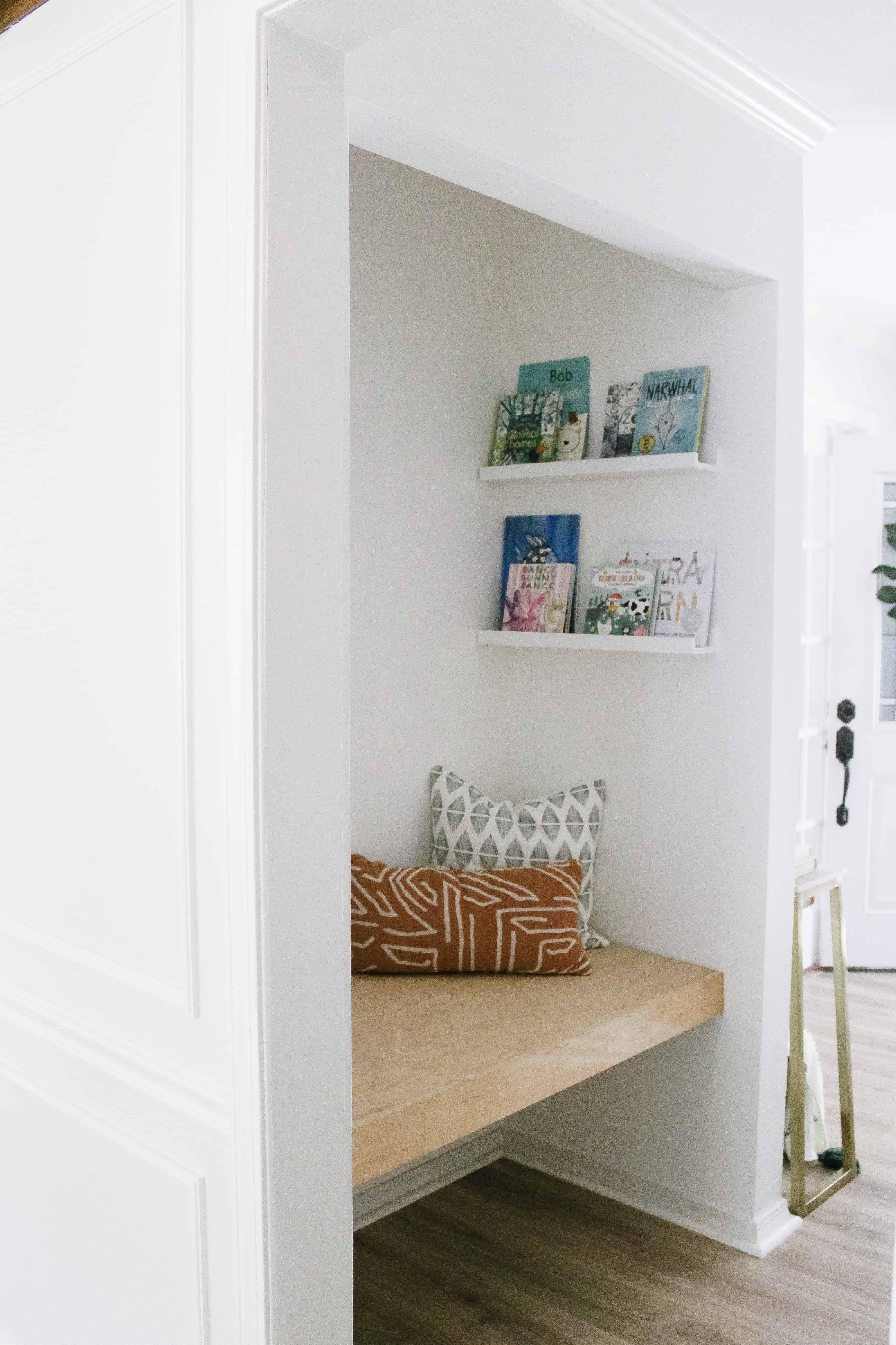 Coat Closet Book Nook