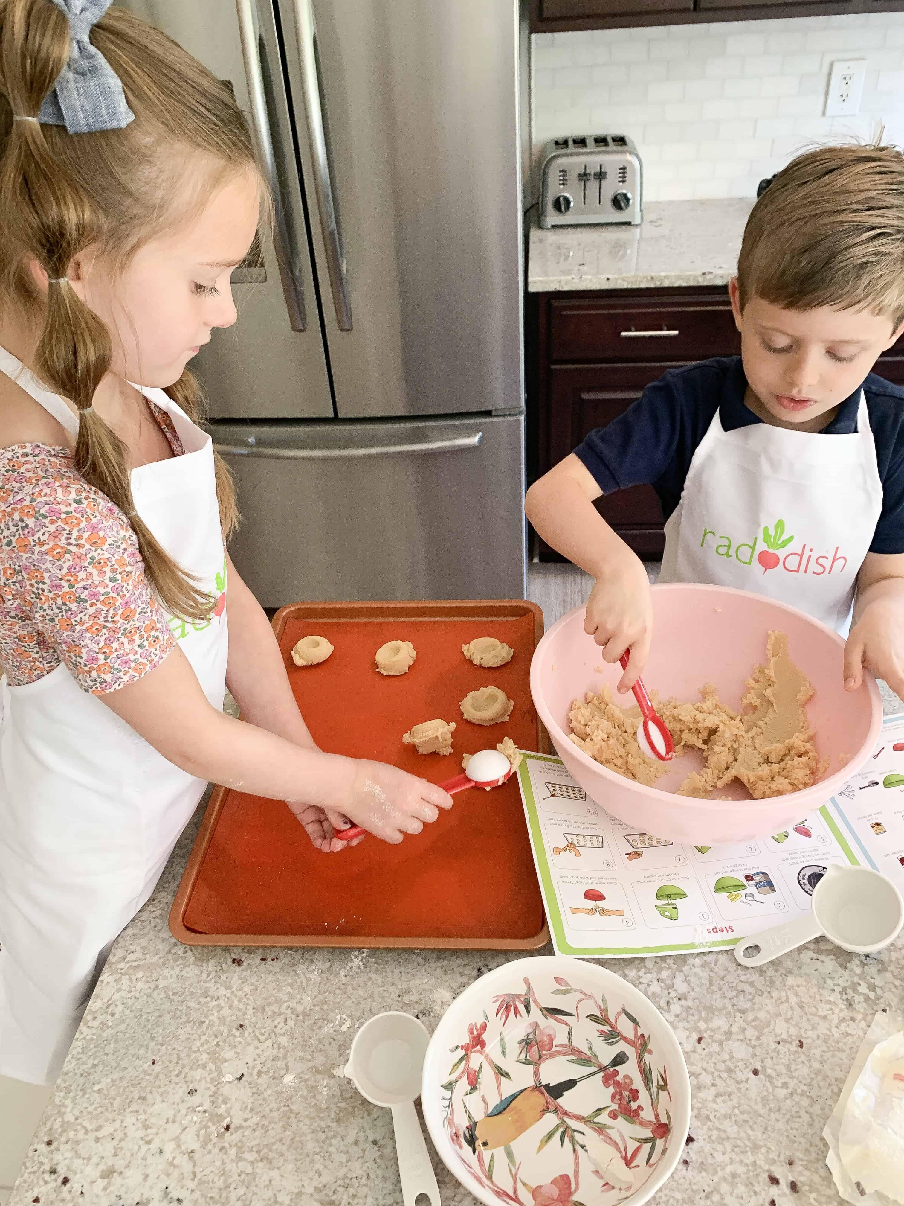 Kids cooking in kitchen