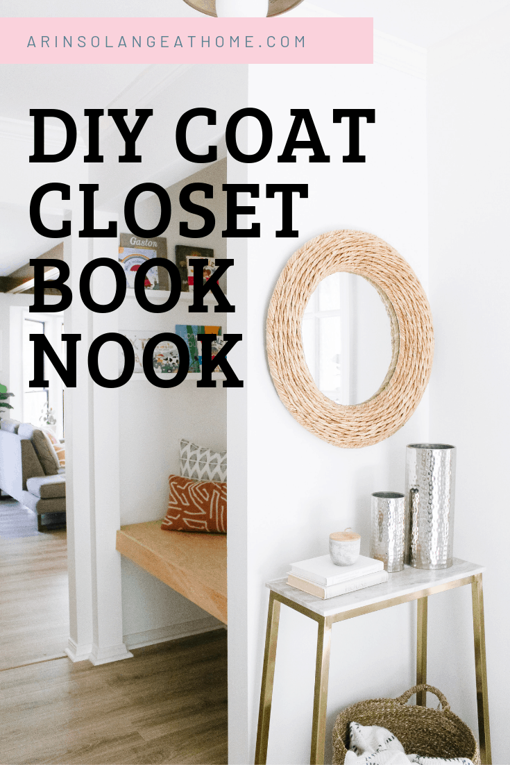 DIY Coat Closet Book Nook