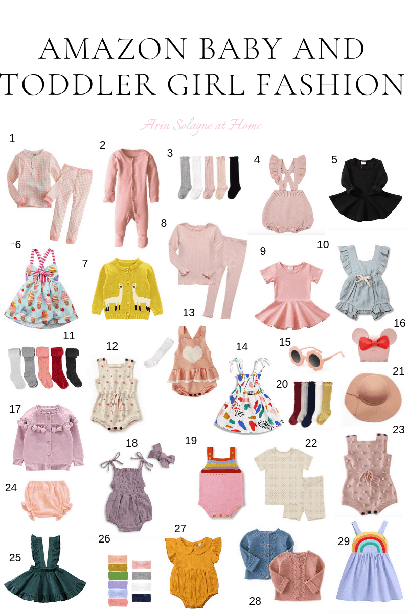 Baby and Toddler Girl Fashion from Amazon