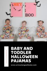 Baby and toddler Halloween Pajamas