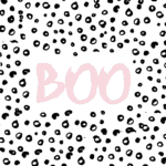 Free Pink Halloween Printable Art