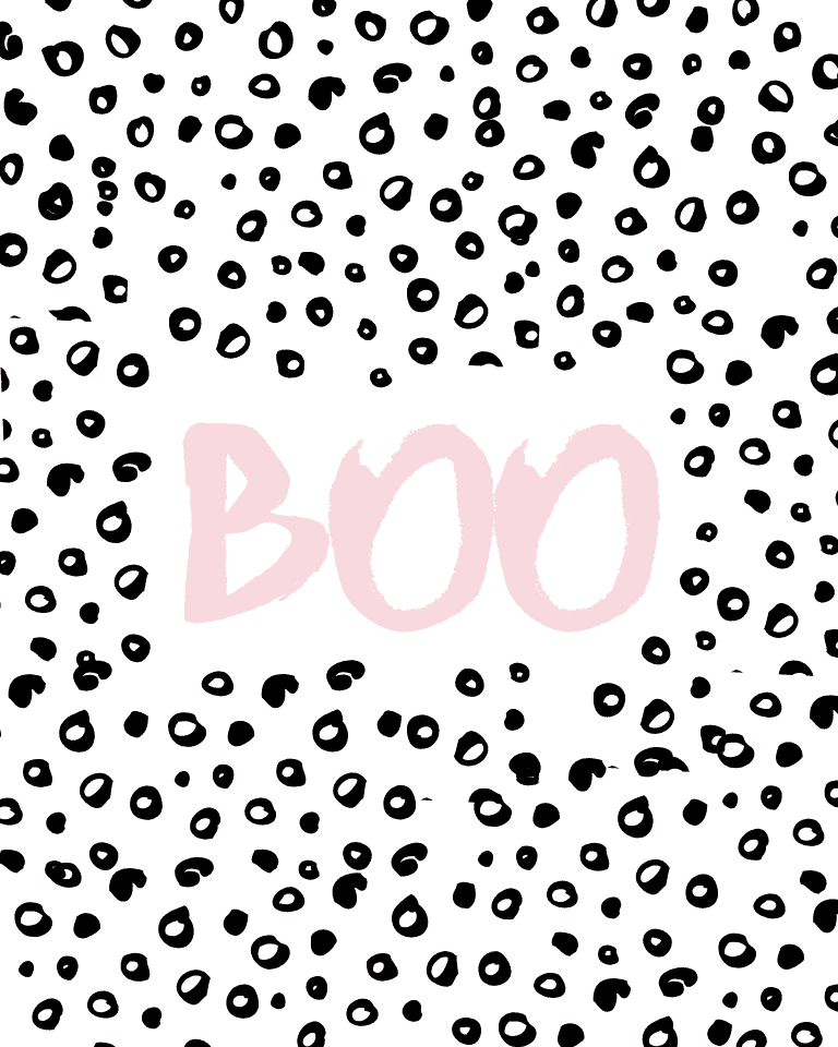 Pink BOO printable art