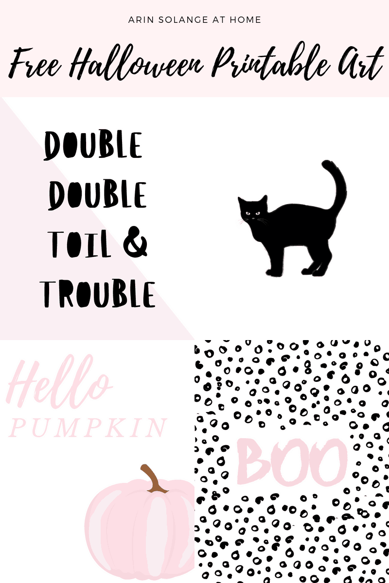 Free Pink Printable Halloween Art