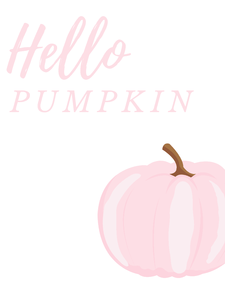 Hello Pumpkin Halloween Printable
