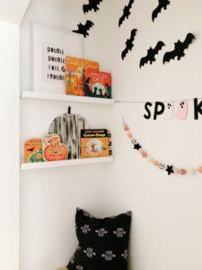Halloween Book Shelves