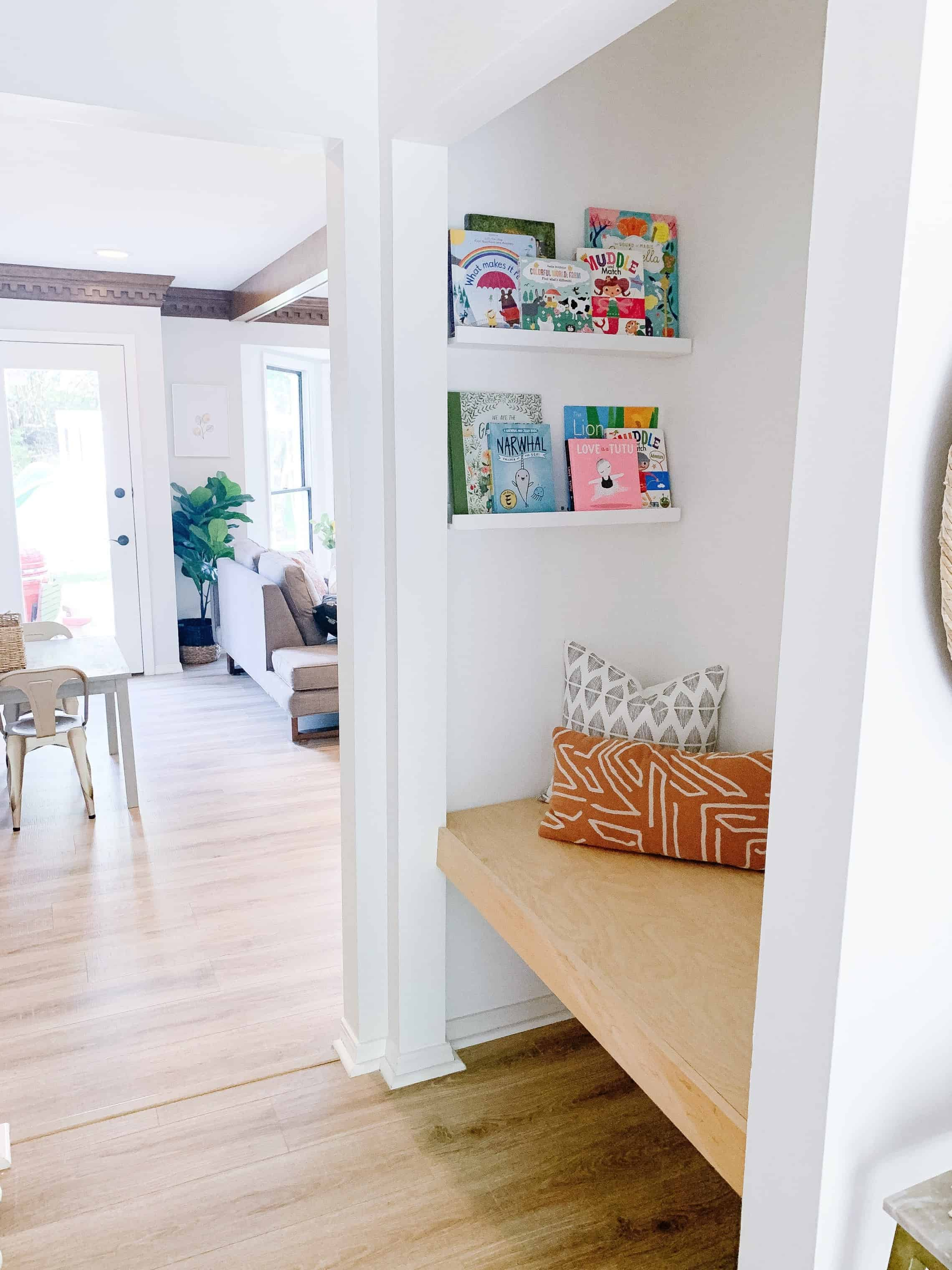 DIY closet book nook