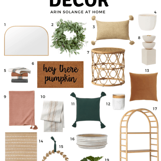 round up of modern fall decor