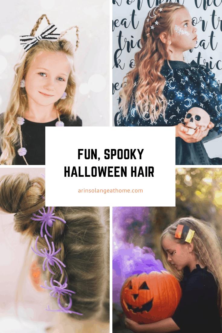 Fun Spooky Halloween hair