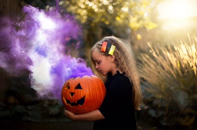 Halloween crimped hair