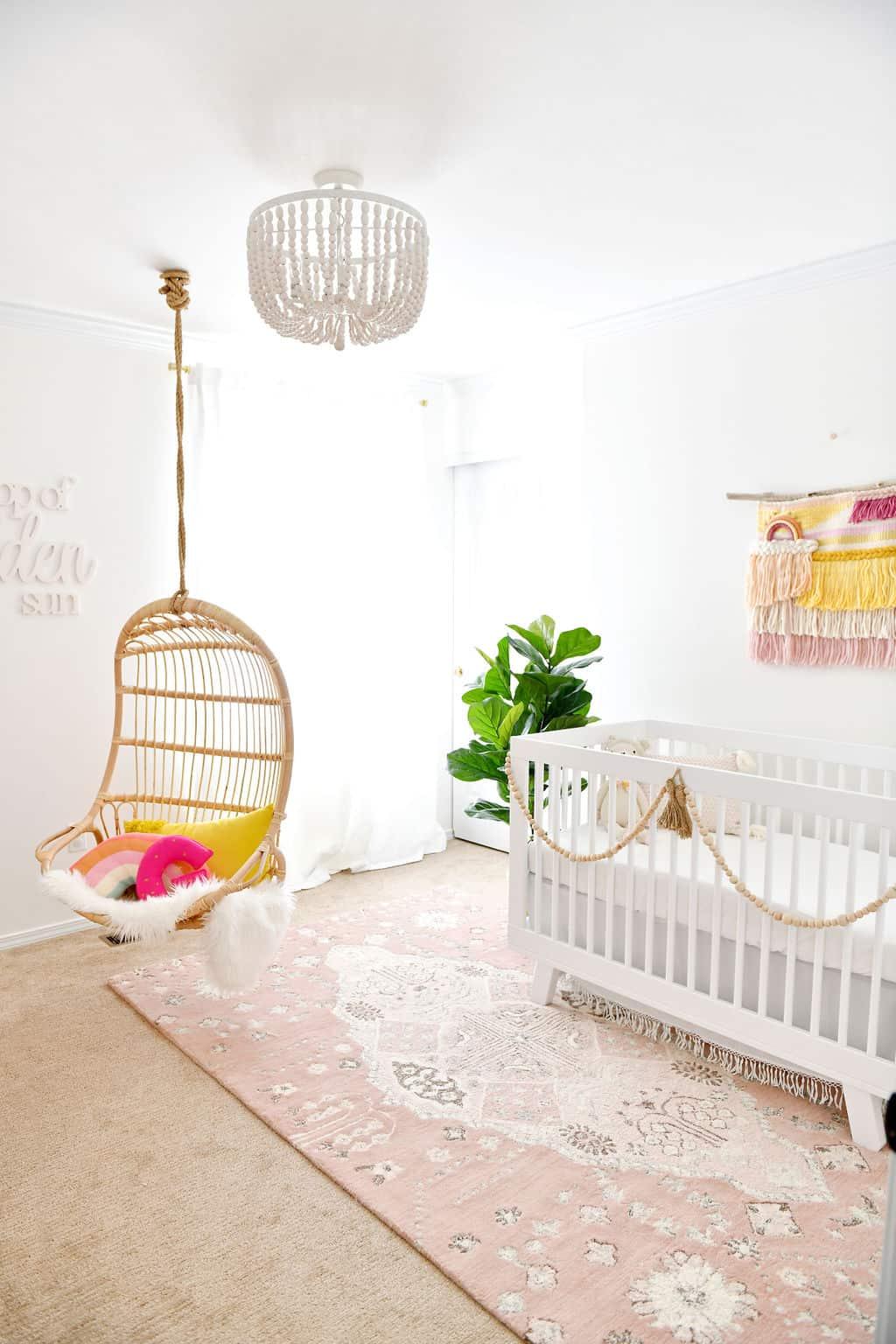 Baby girl rainbow nursery