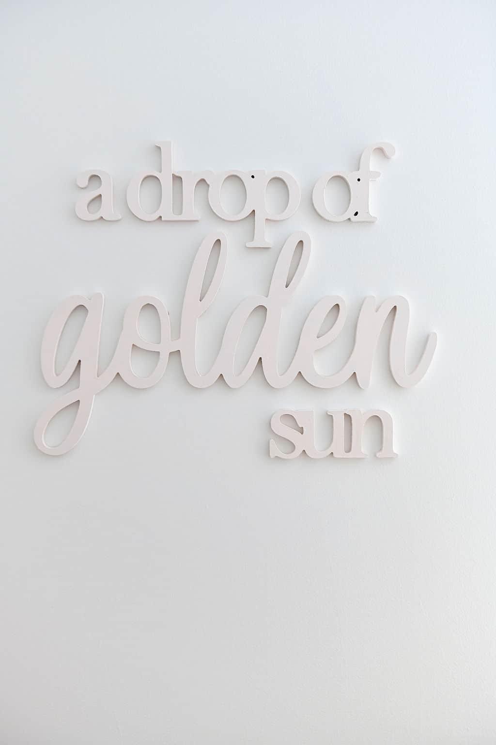 a drop of golden sun wall hanging