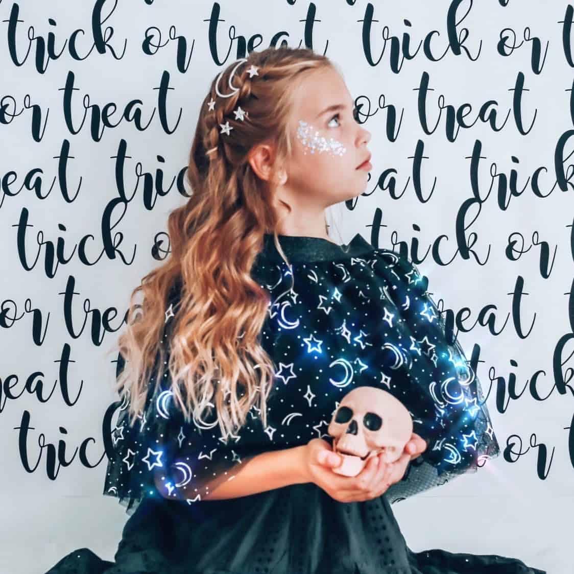 Halloween themed little girls hair