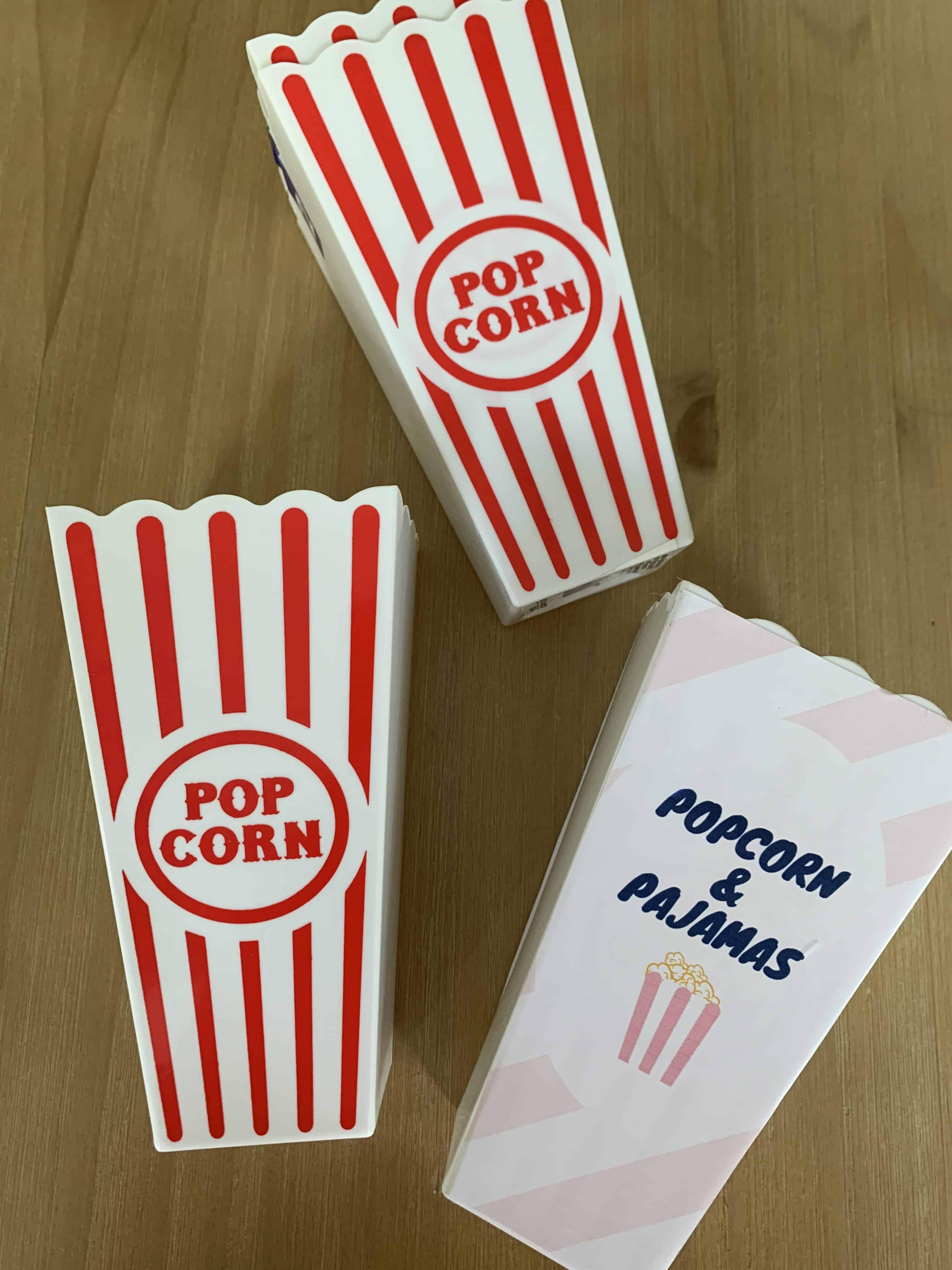 DIY popcorn containers