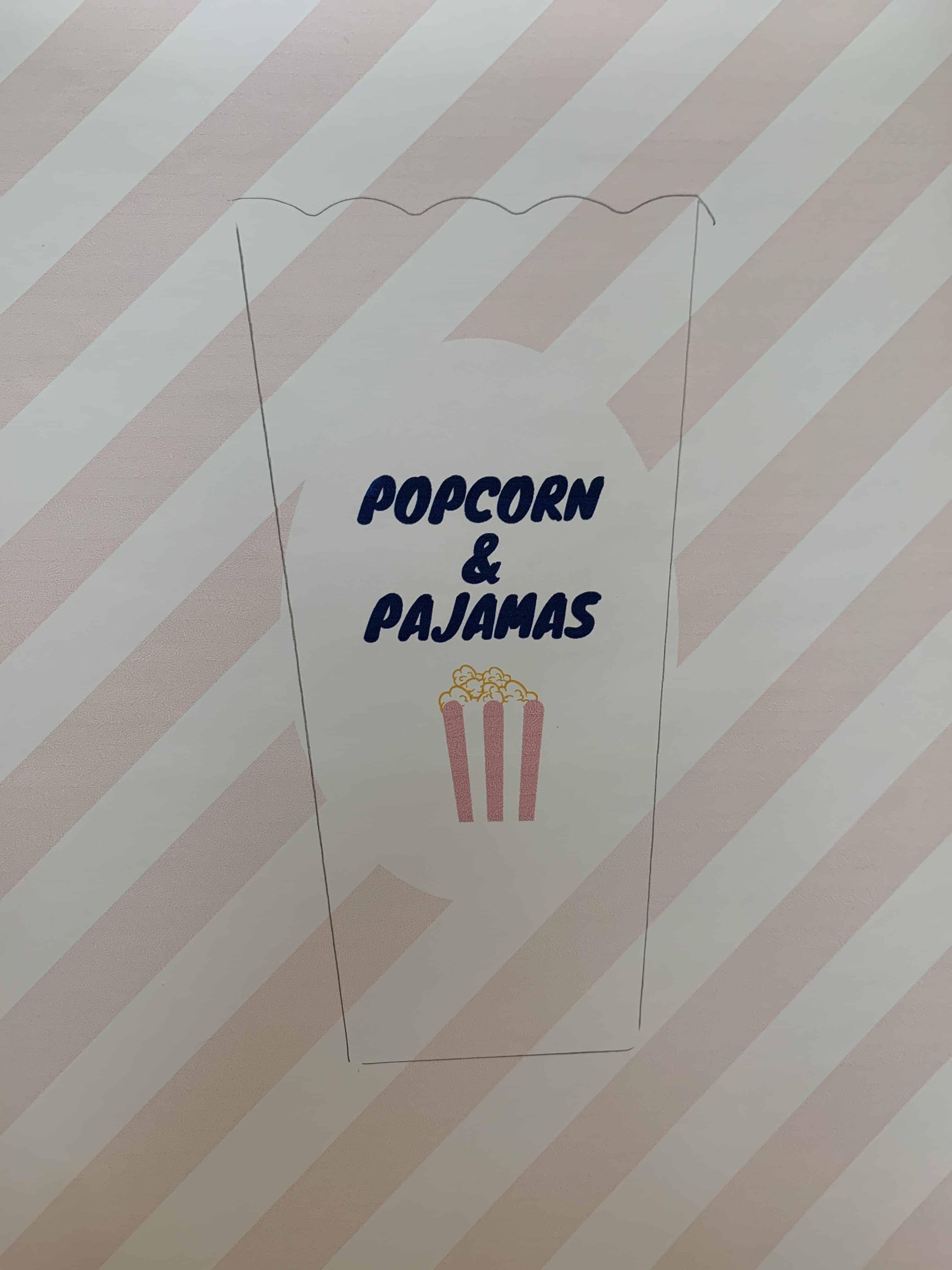 popcorn and pajamas