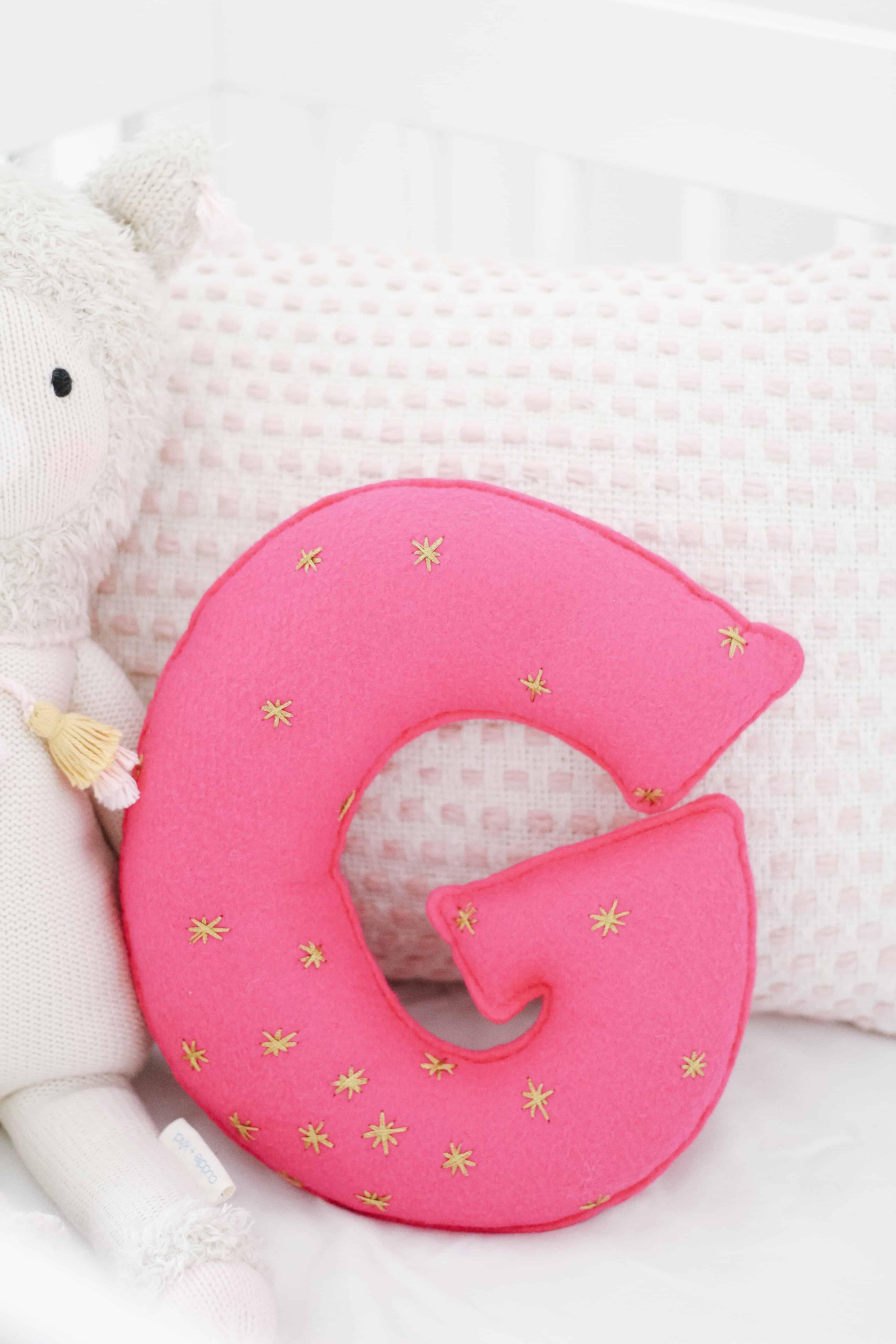 Hot pink G Pillow