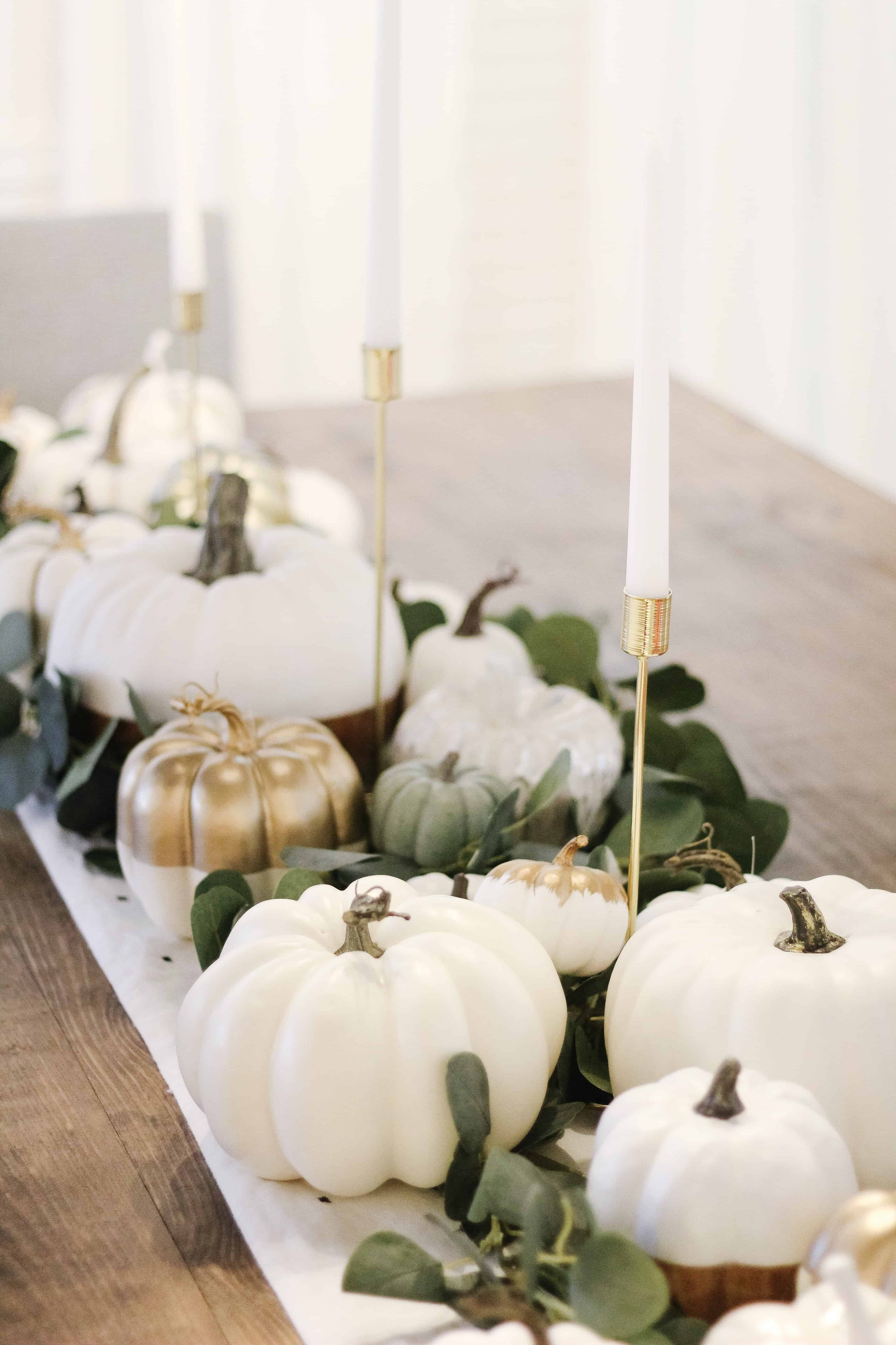Modern Neutral Fall Tablescape