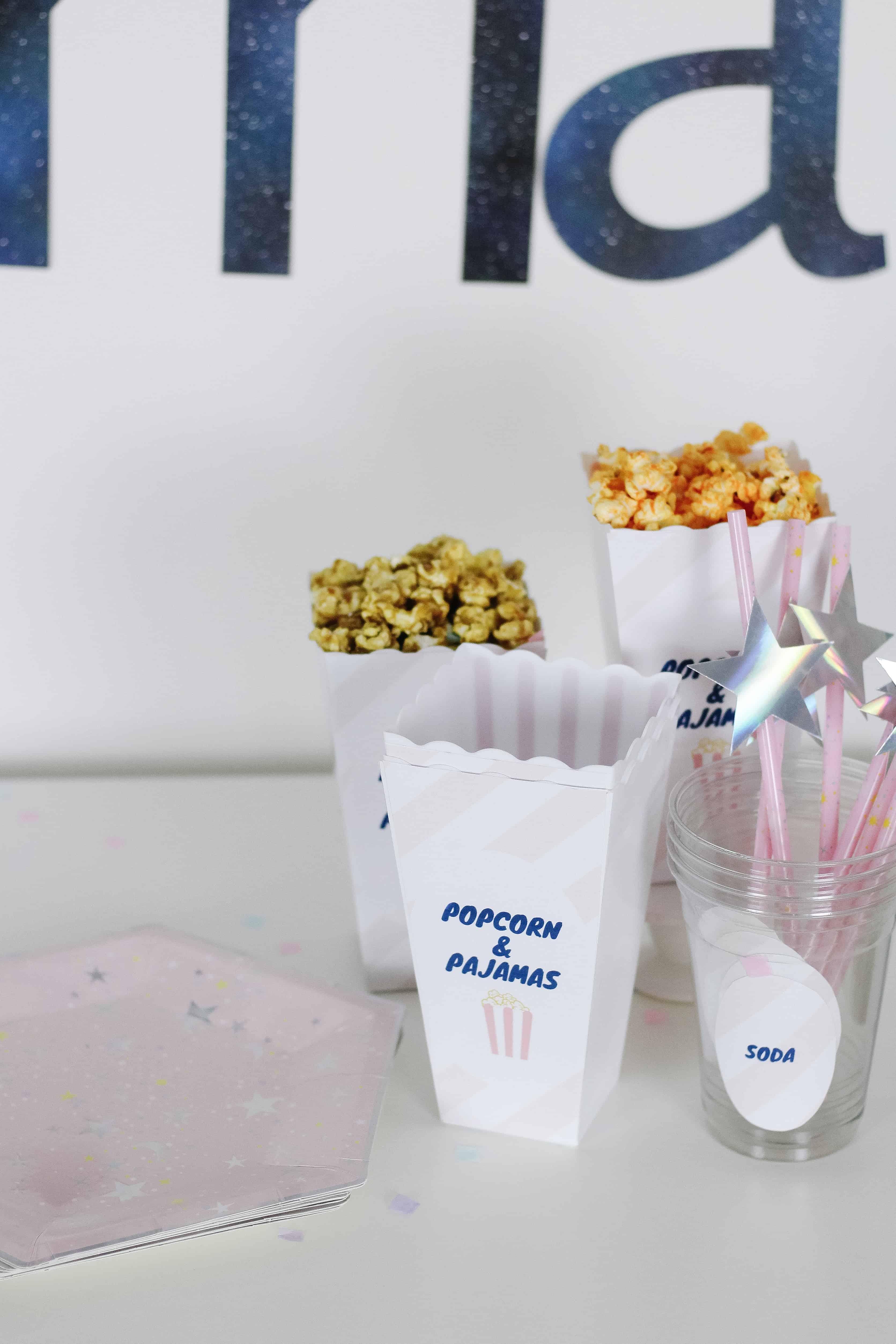 Popcorn and Pajamas items