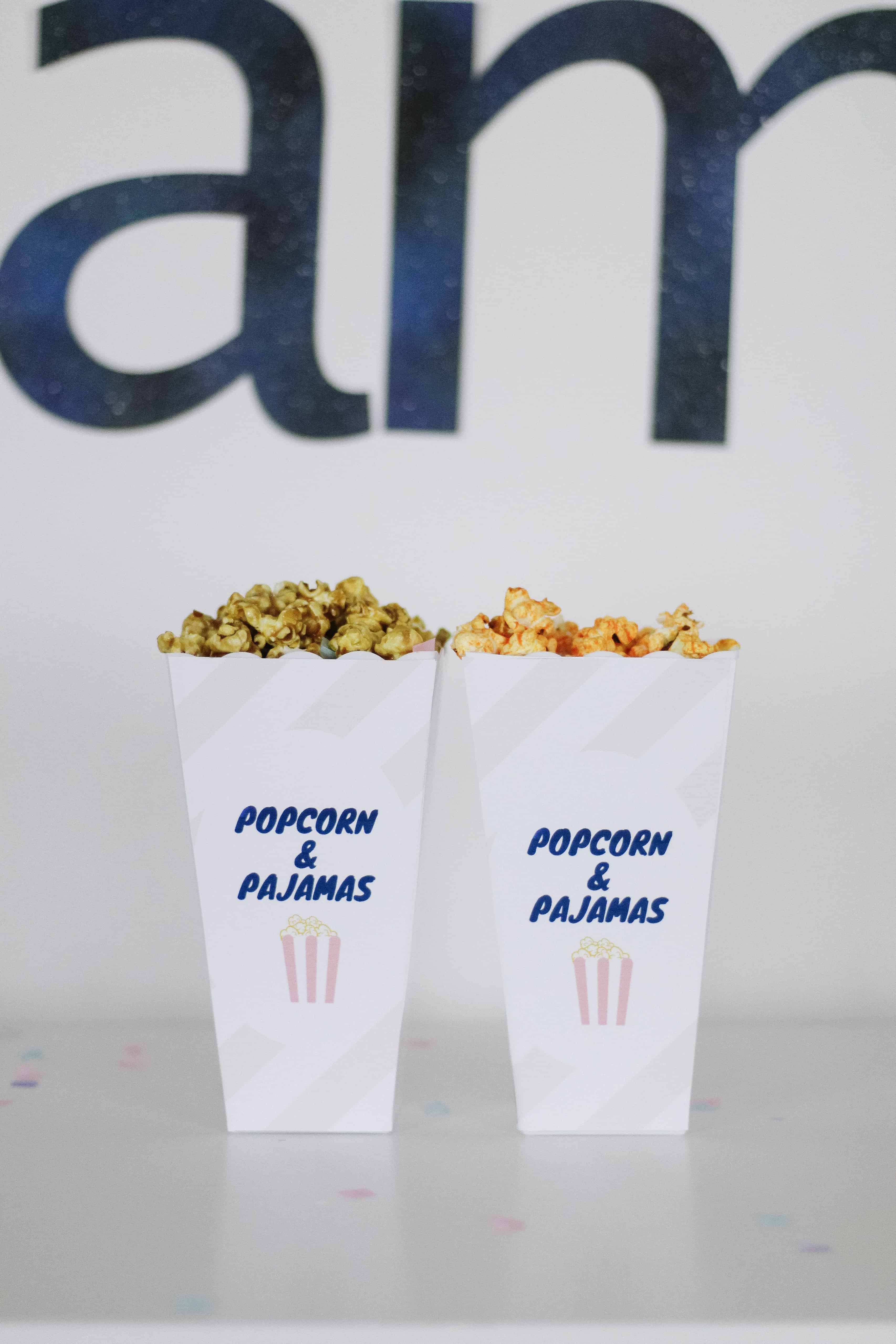 Pink popcorn containers