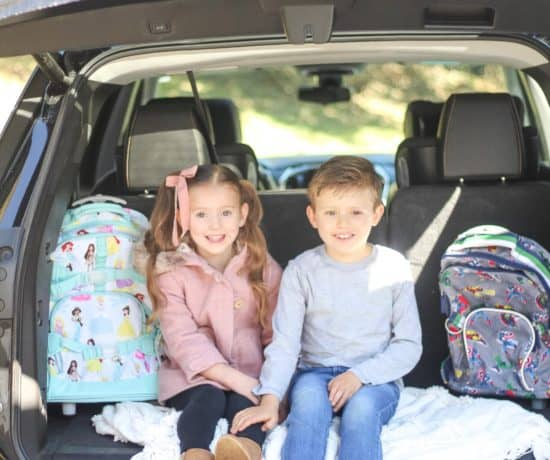 Kids in the back of chevvy traverse