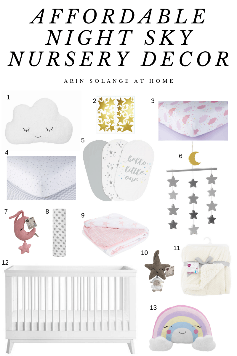 Affordable Sky Themed Nursery Decor
