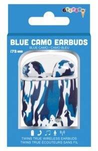 blue came kids earbud headphones