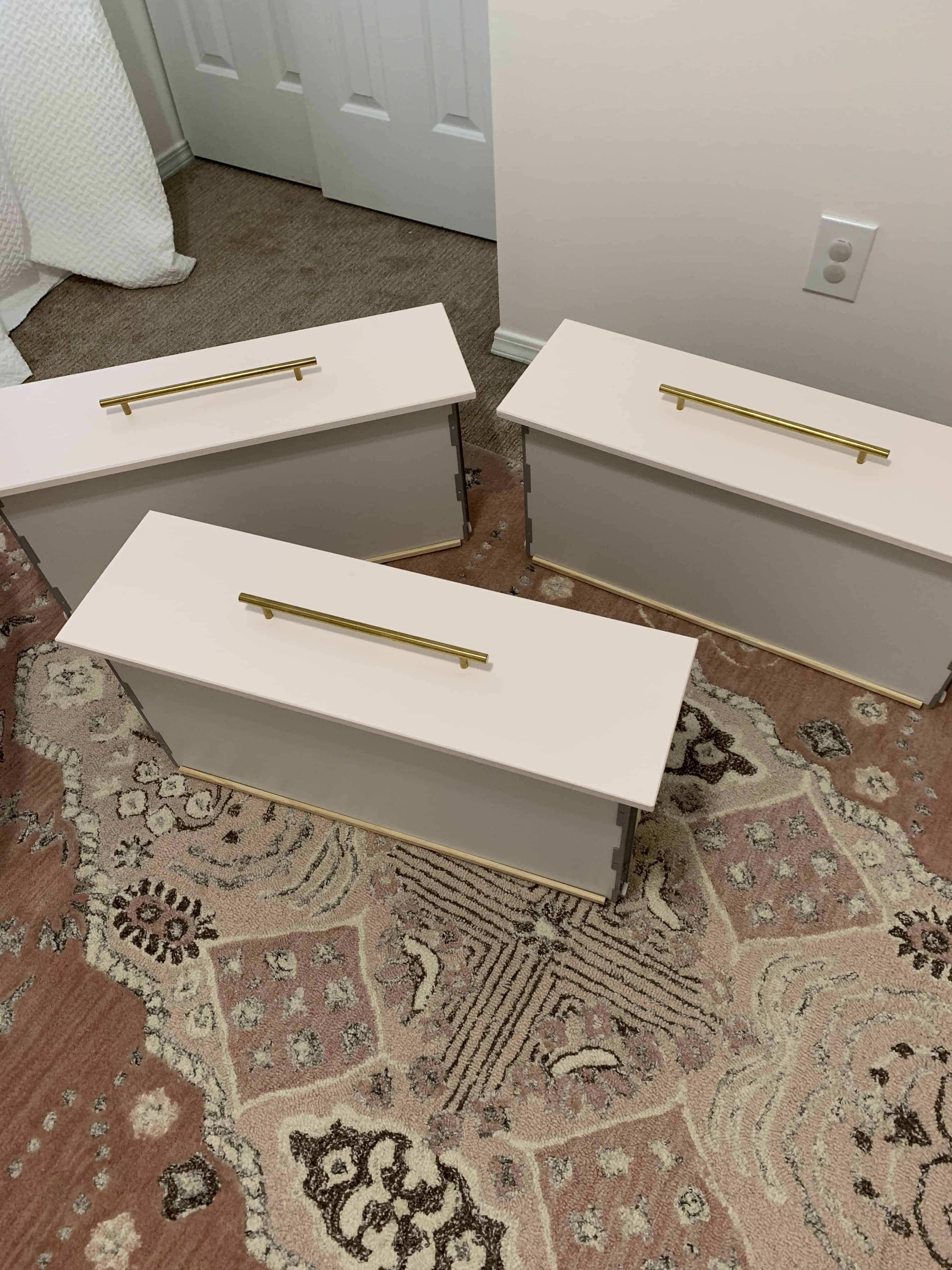 IKEA tarva dresser with gold pulls