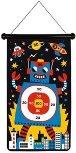 Magnetic robot dart board