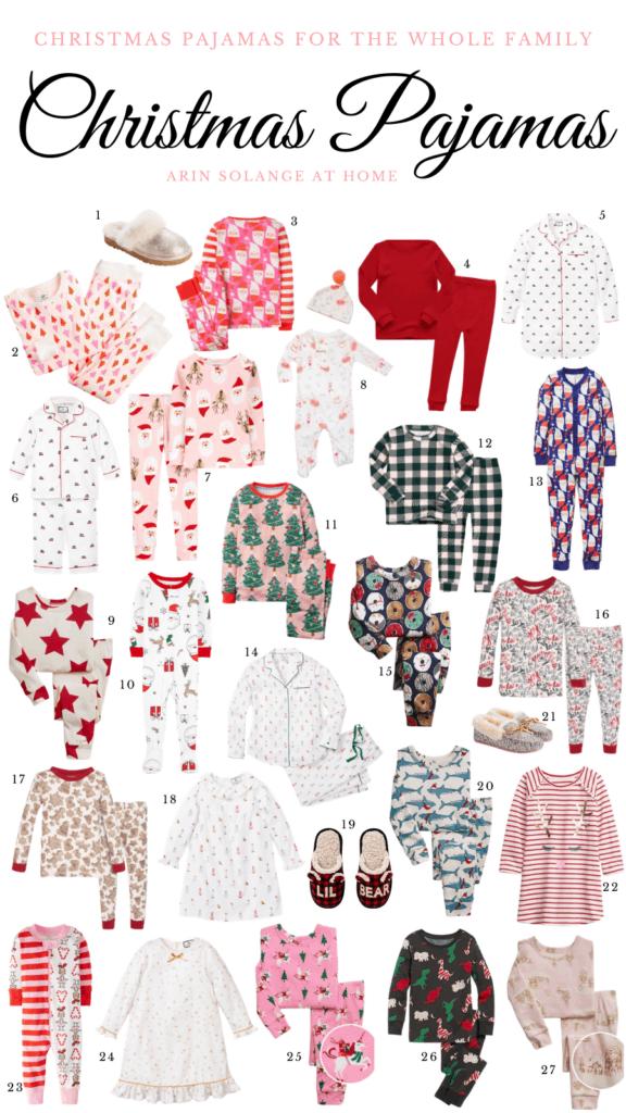 Coordinating and Matching family Christmas pajamas