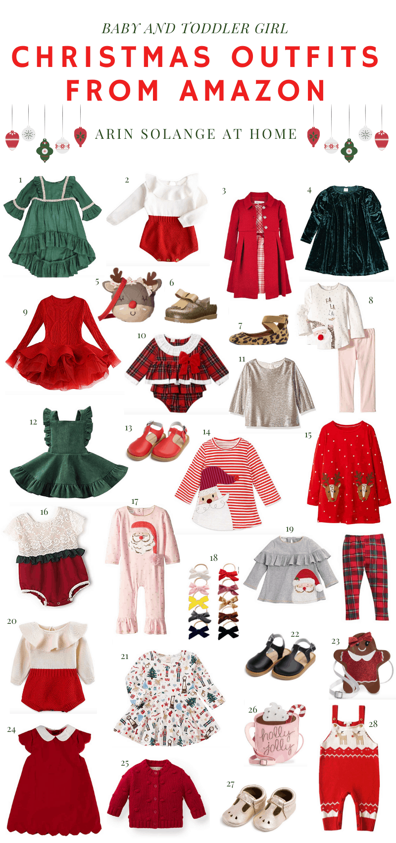 Christmas outfits for girls from Amazon