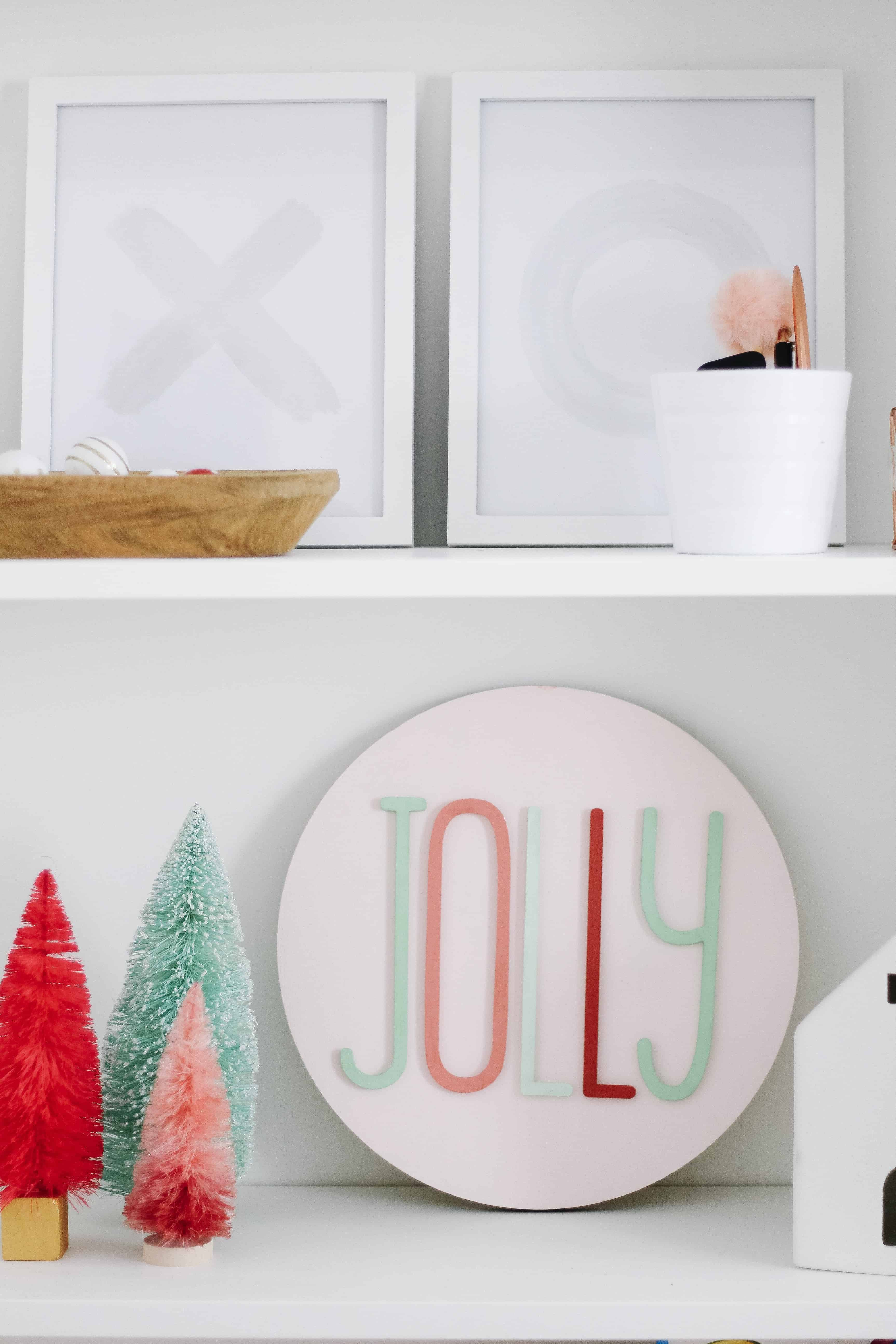 Bright Merry and bright decor with pink and mint
