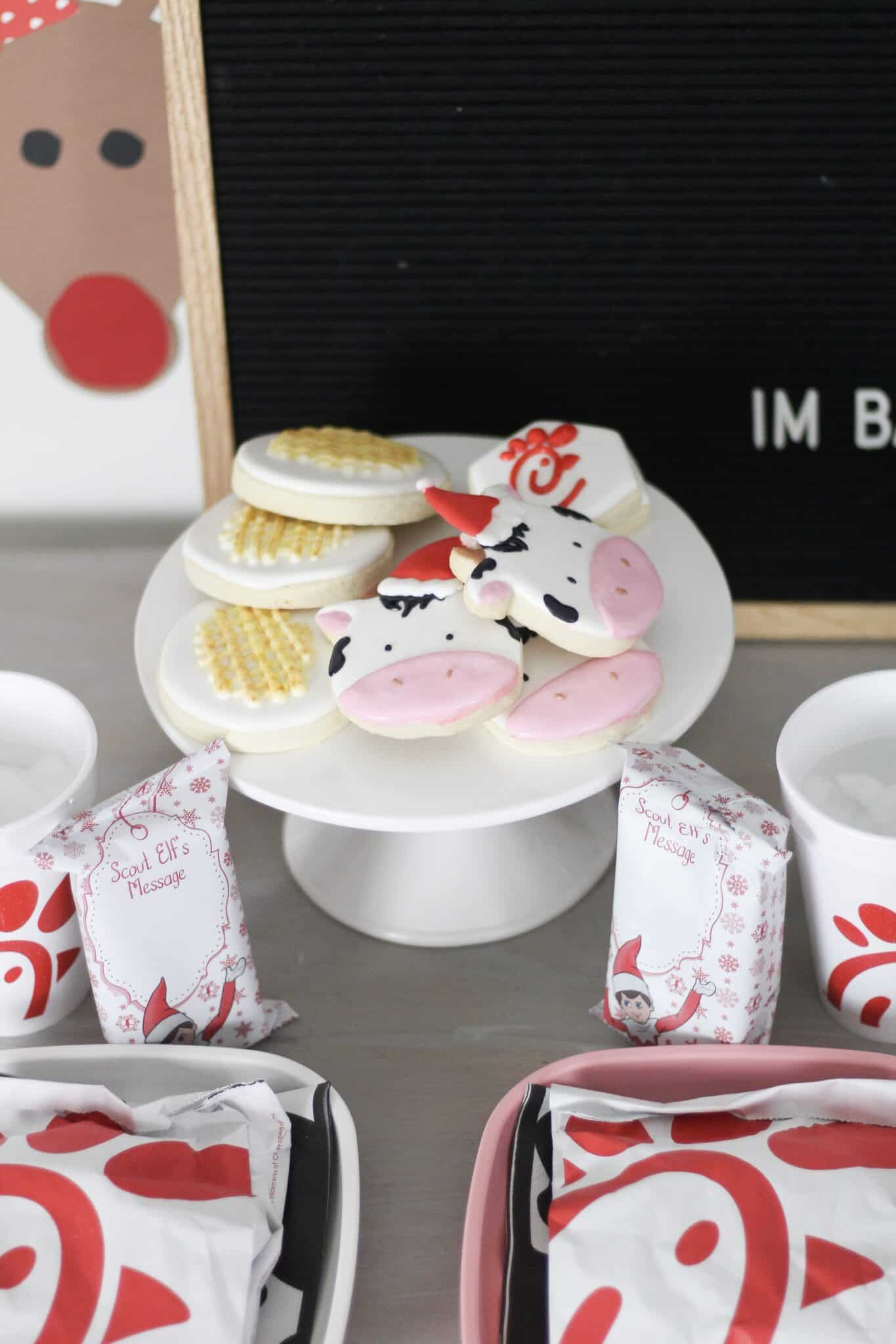 chick-fil-a themed sugar cookies