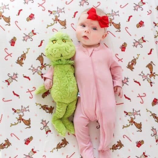 baby girl dressed like Cindy Lou who