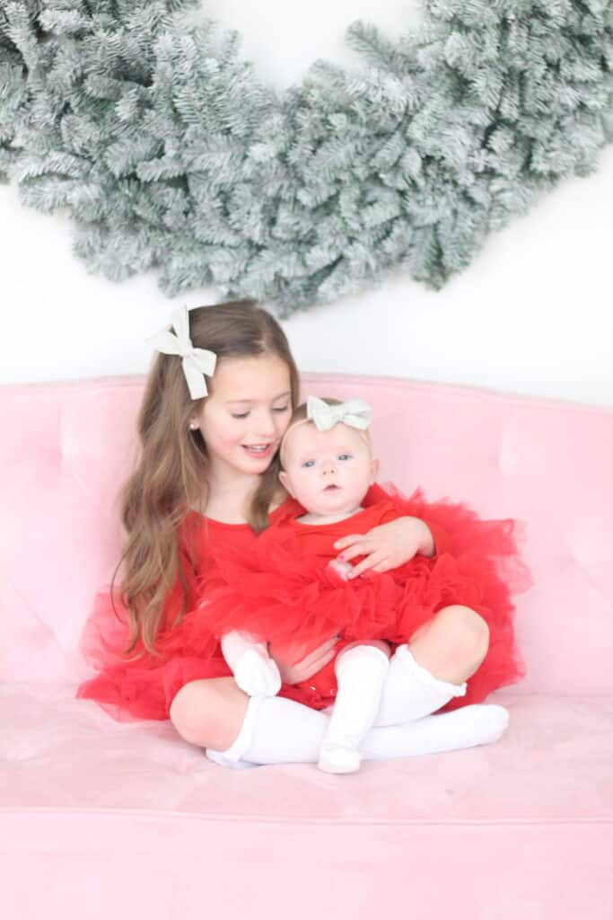 Sisters in Red Plum Tutus