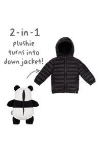 black panda cub coat