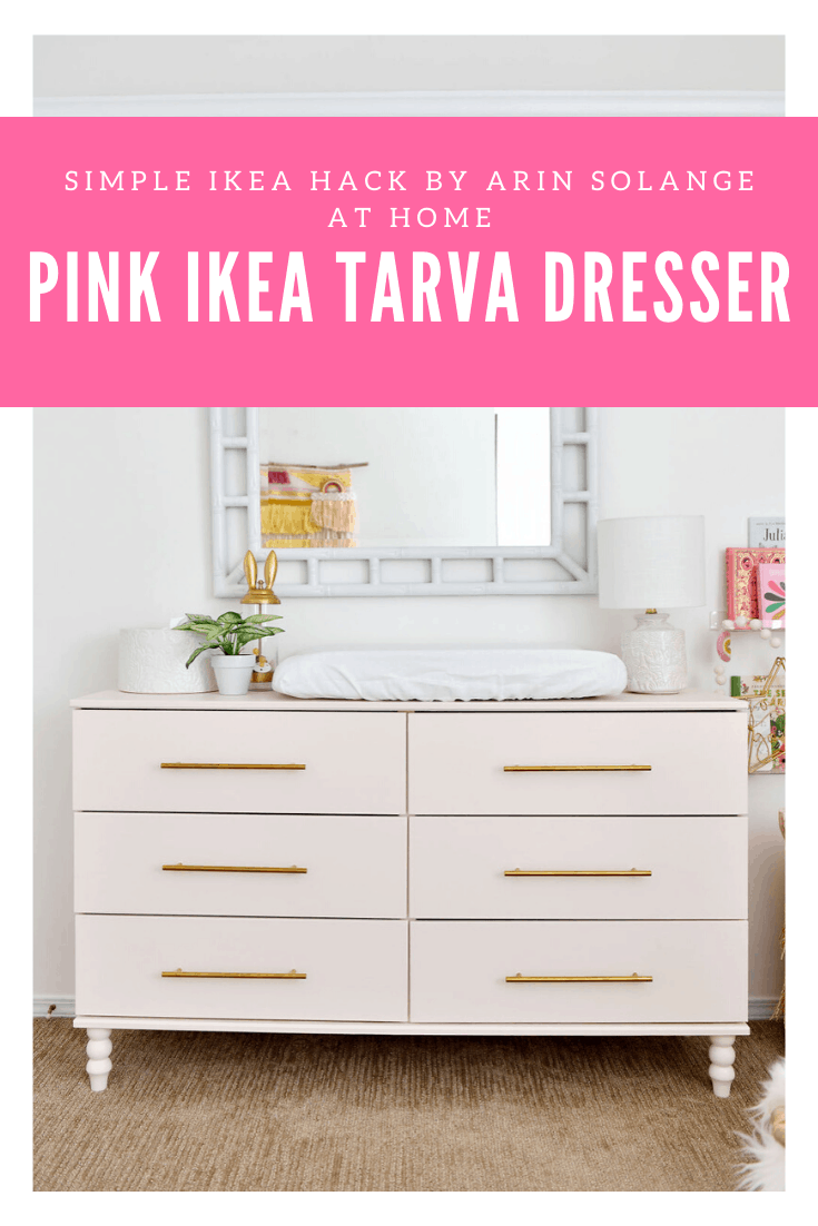 Pink IKEA Tarva Dresser Hack