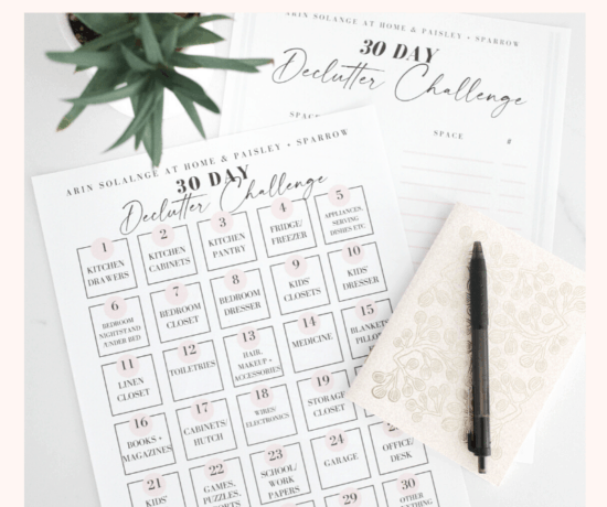 30 day declutter your home challenge