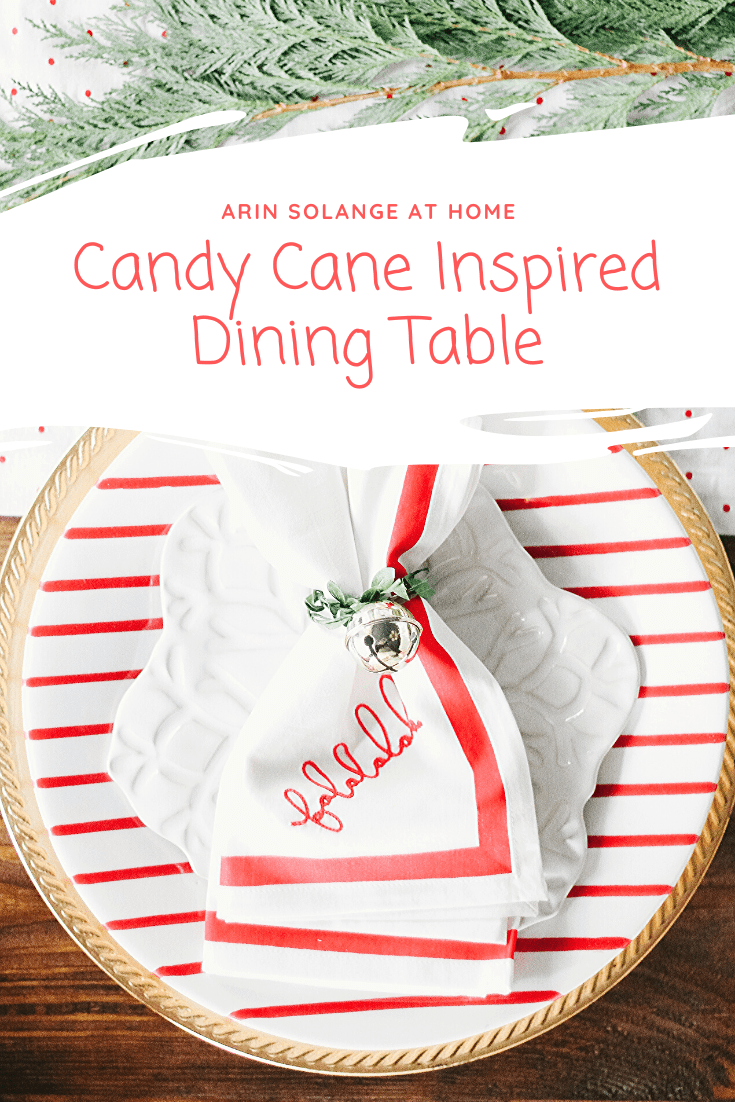 candy cane inspired dining table decor