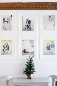 small Christmas tree on kids play table