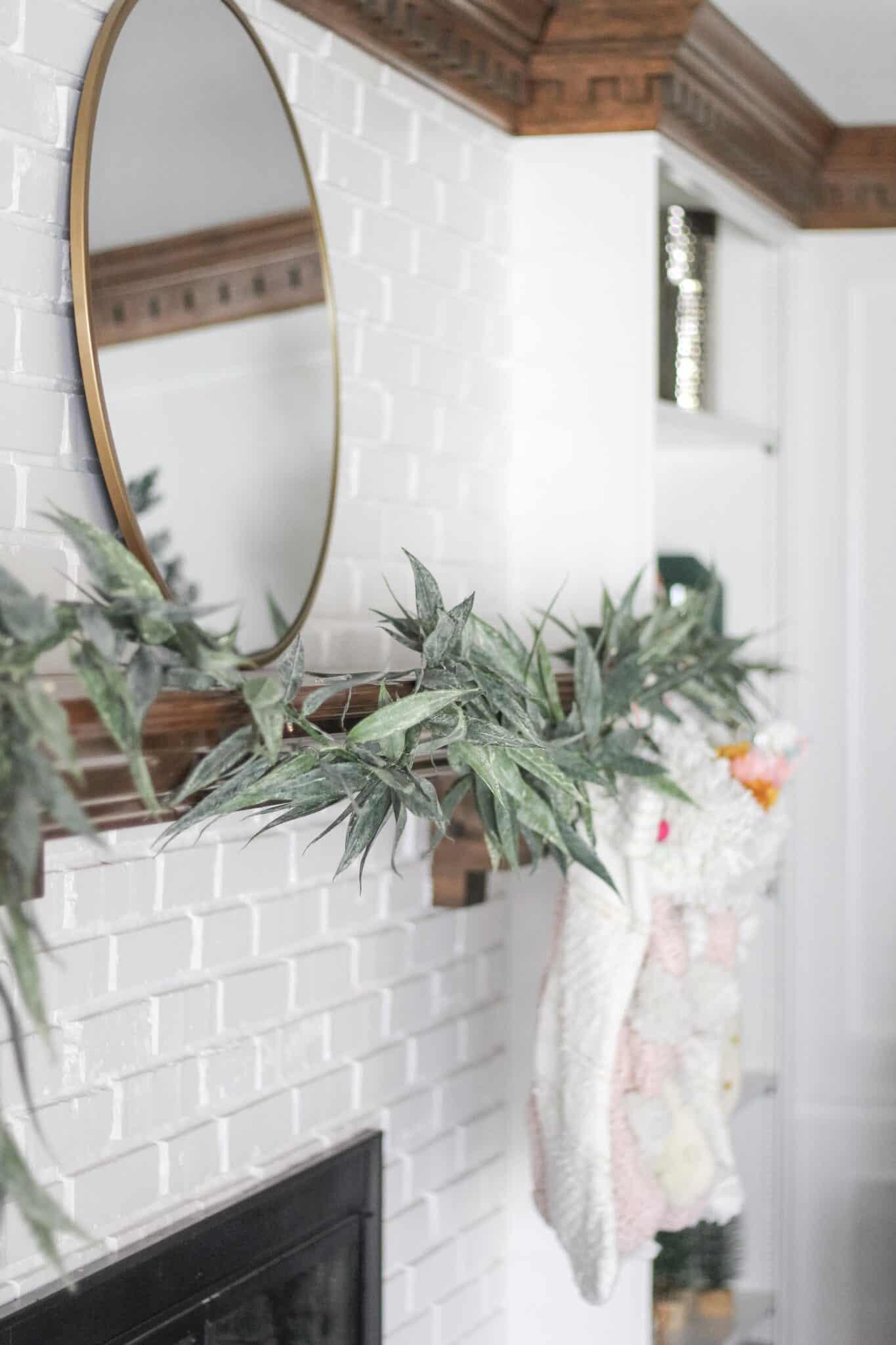 modern Christmas mantle