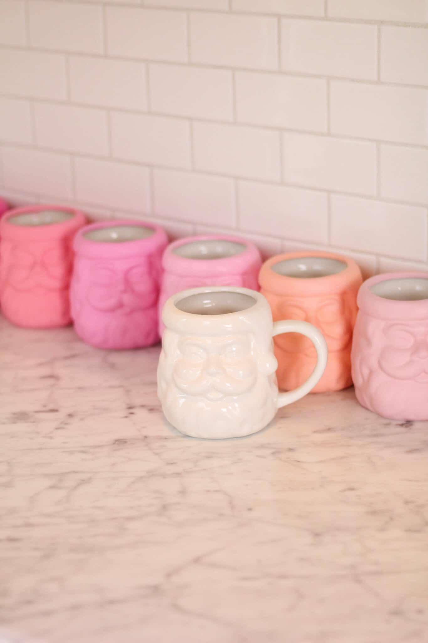 DIY Pink Santa Mugs