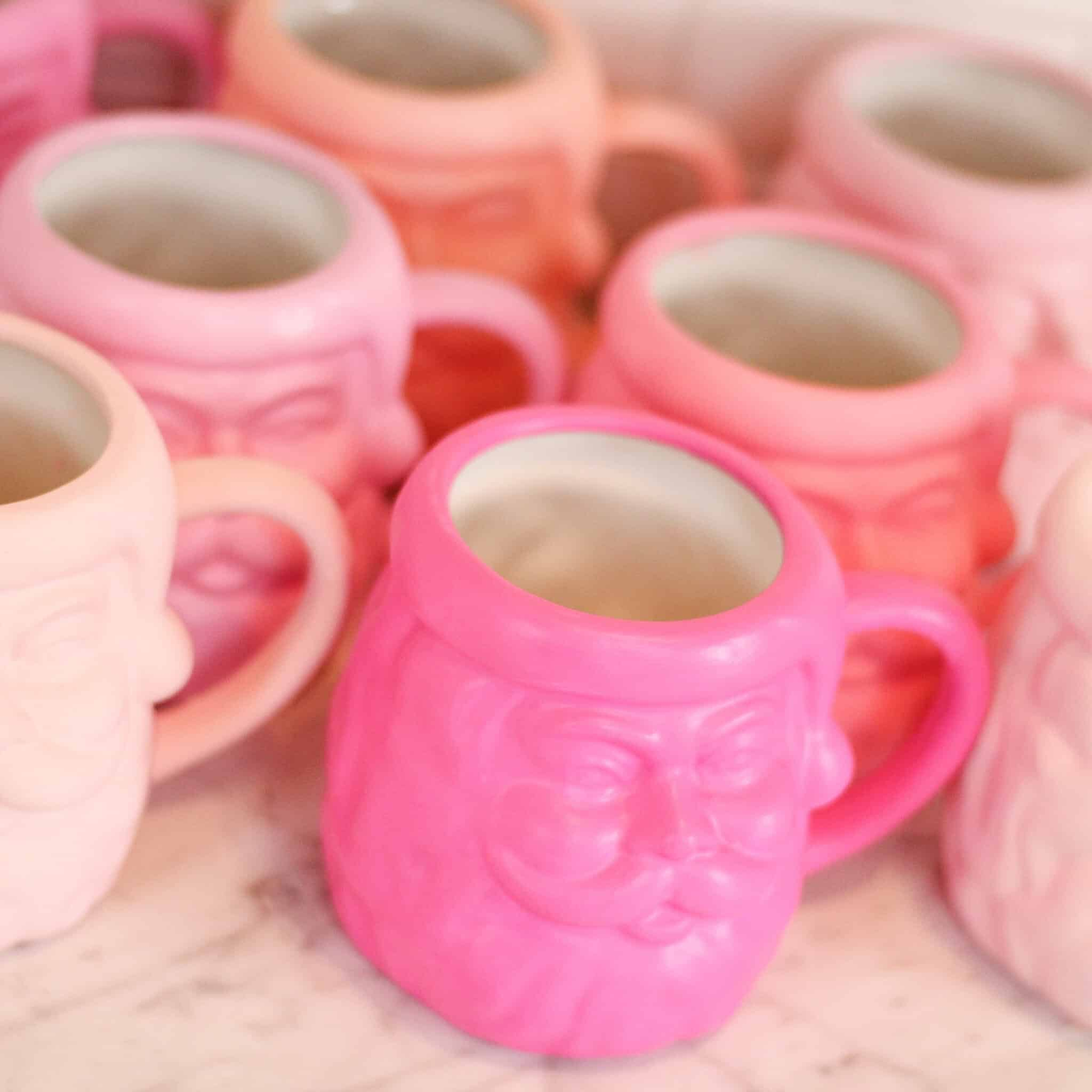 Pink Santa Mugs