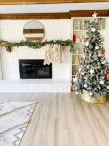 Modern living room with Christmas decor