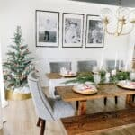 Candy Cane Inspired Dining Room Table Decor
