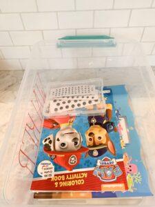easy kids craft bin