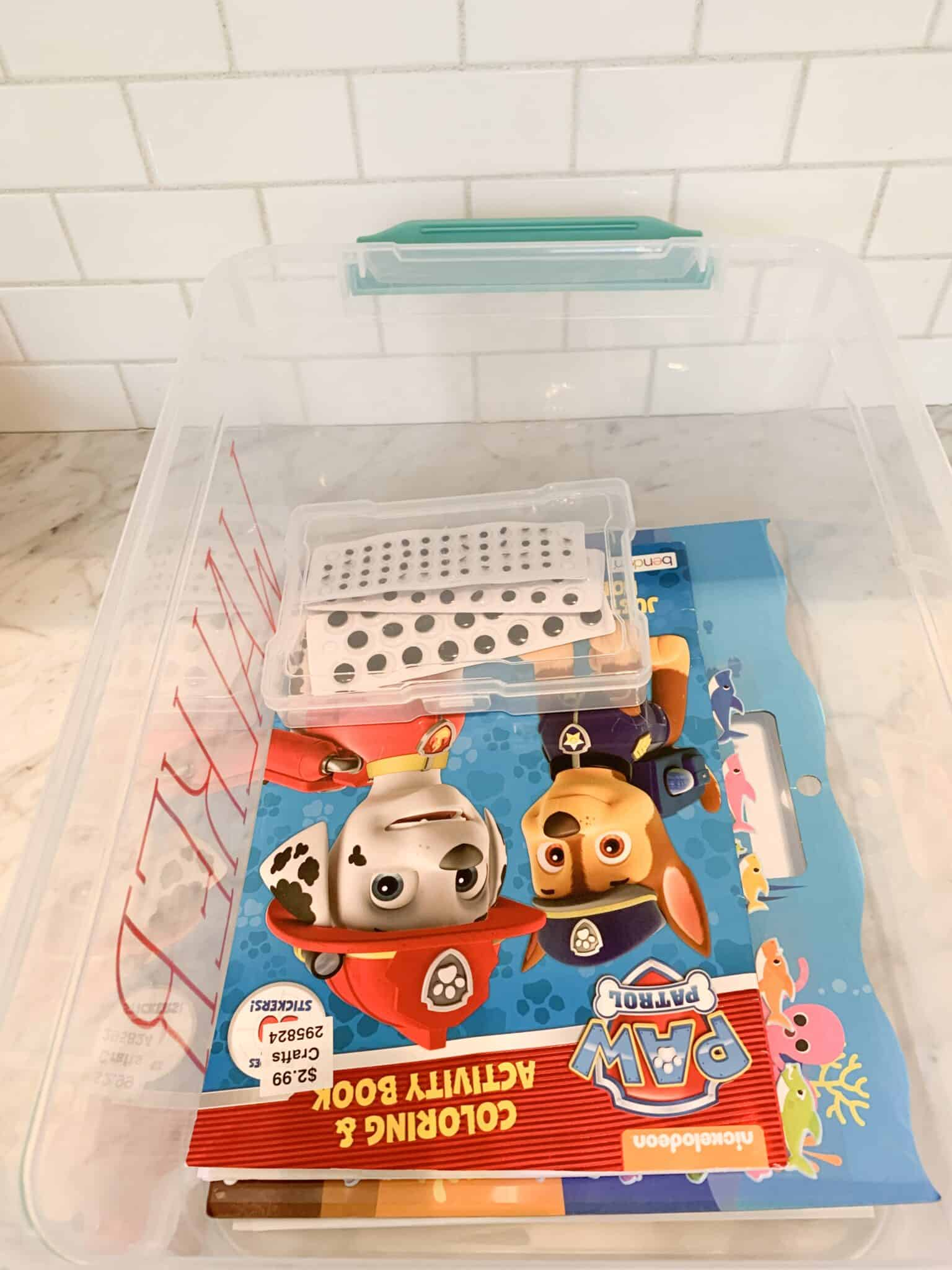 easy kids craft bin