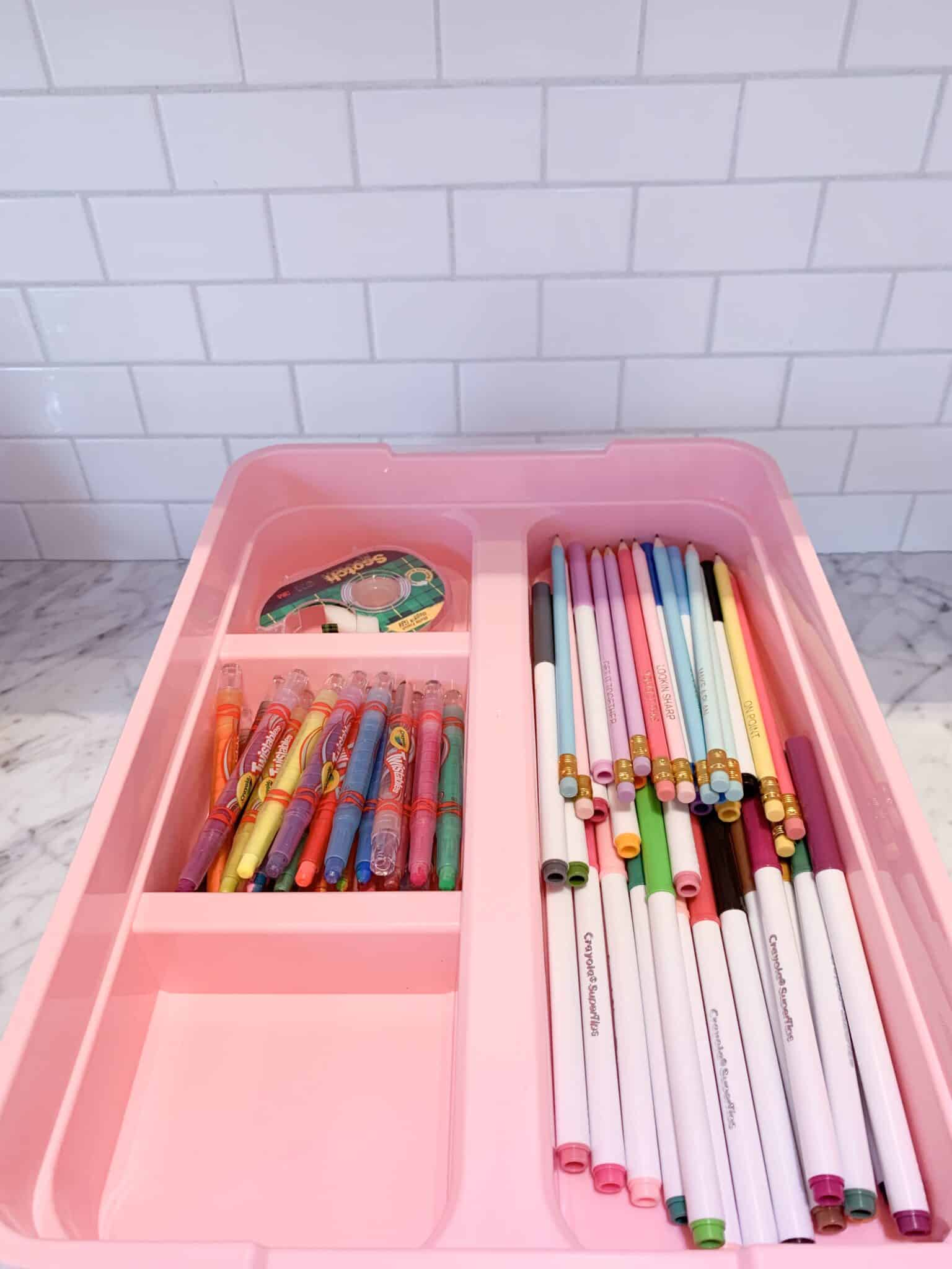 Easy Kids Craft Bins