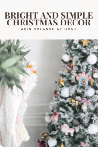 bright and simple Christmas decor