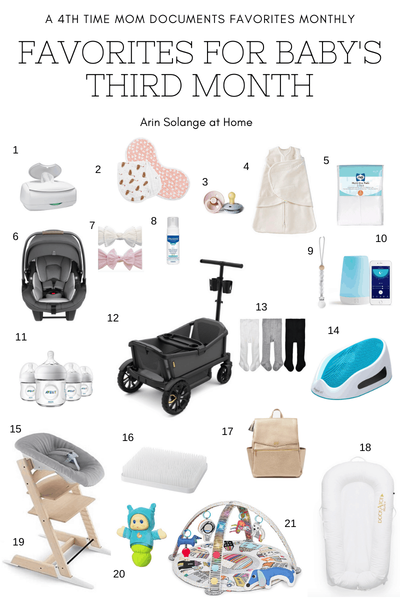 favorite items for a 3 month old baby